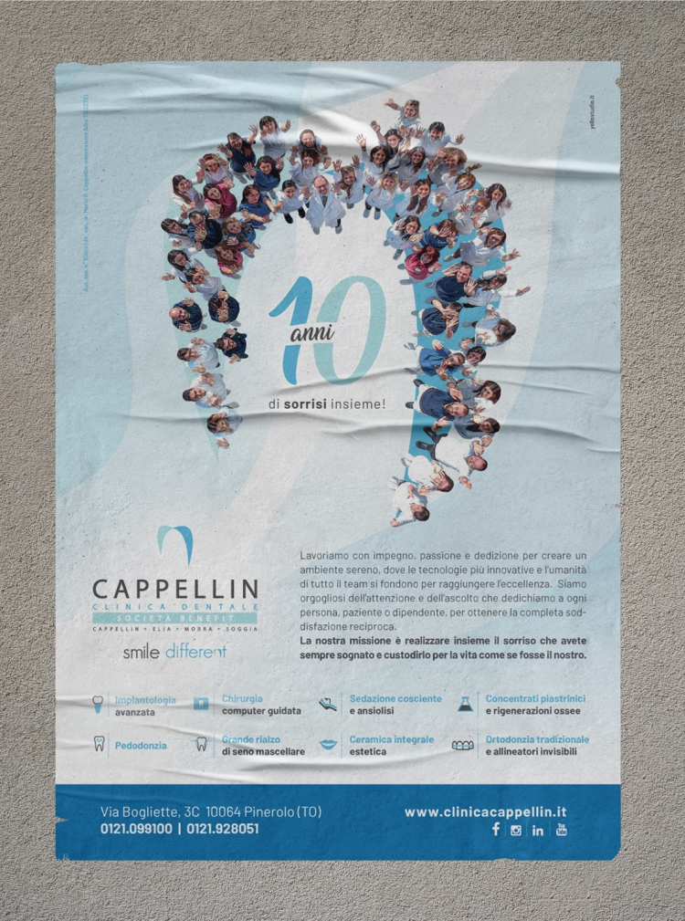 Clinica Dentale Cappellin<br><strong>Campagna creativa</strong>